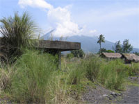 Padang barangay buried houses, Bicol, Philippines