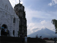 Daraga Church and Mt Mayon Volcano