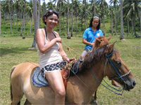 Horse riding, Ticao island, Philippines