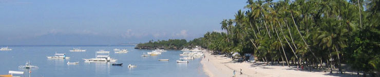 Alona Beach, Panglao Island, Bohol - a popular destination for Philippines Holidays