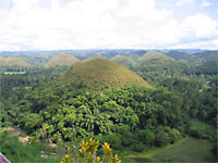 Image of the famous Chocolate Hills, Bohol, Philippines