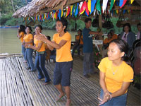 Locals entertain on the Loboc River, Bohol