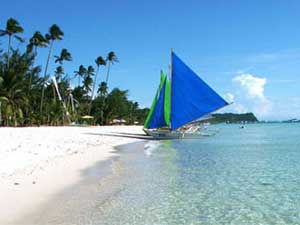 Holidays On White Beach Boracay In The Philippines