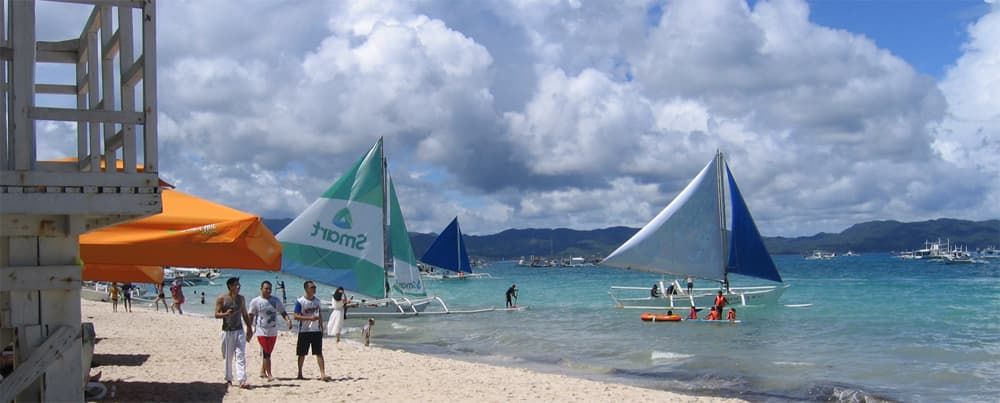 Boracay Beach and Boats