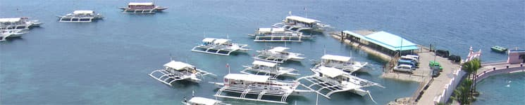 Boats at Hilton Pier, Cebu, Philippines