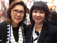 Lucy with Wanda Teo, Philippines Tourism Secretary