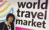 Lucy at World Travel Market