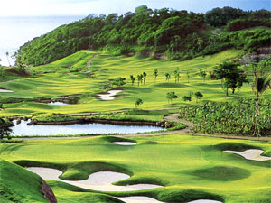 Aerial view of Fairways and Bluewater Golf Course, Boracay