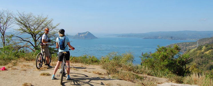 Mountain Biking at Taal Volcano the Philippines
