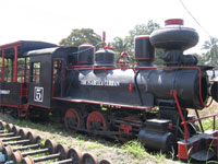 Steam train from the Negros Occidental sugar plantations