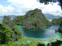 View of Coron in the Philippines