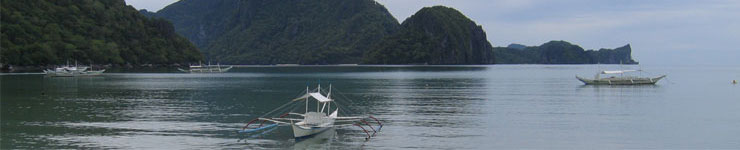 Looking out over the bay at El Nido - the perfect destination for a quiet Philippines Holiday