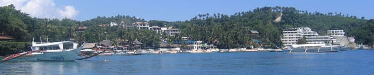 Book a Philippines Holiday at Puerto Galera, just a short journey from Manila, by road and ferry transfer