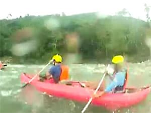 Whitewater kayaking on Mindoro Island, Philippines