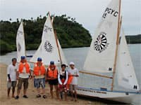 Learn to sail at Puerto Galera, Philippines