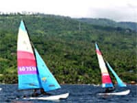 Sail a hobie on Lake Taal, Philippines