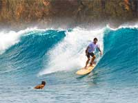 Surfing at Siargao, Philippines