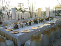 Wedding reception layout at Seawind, Boracay, Philippines