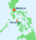 Map showing how to get to Boracay from Manila